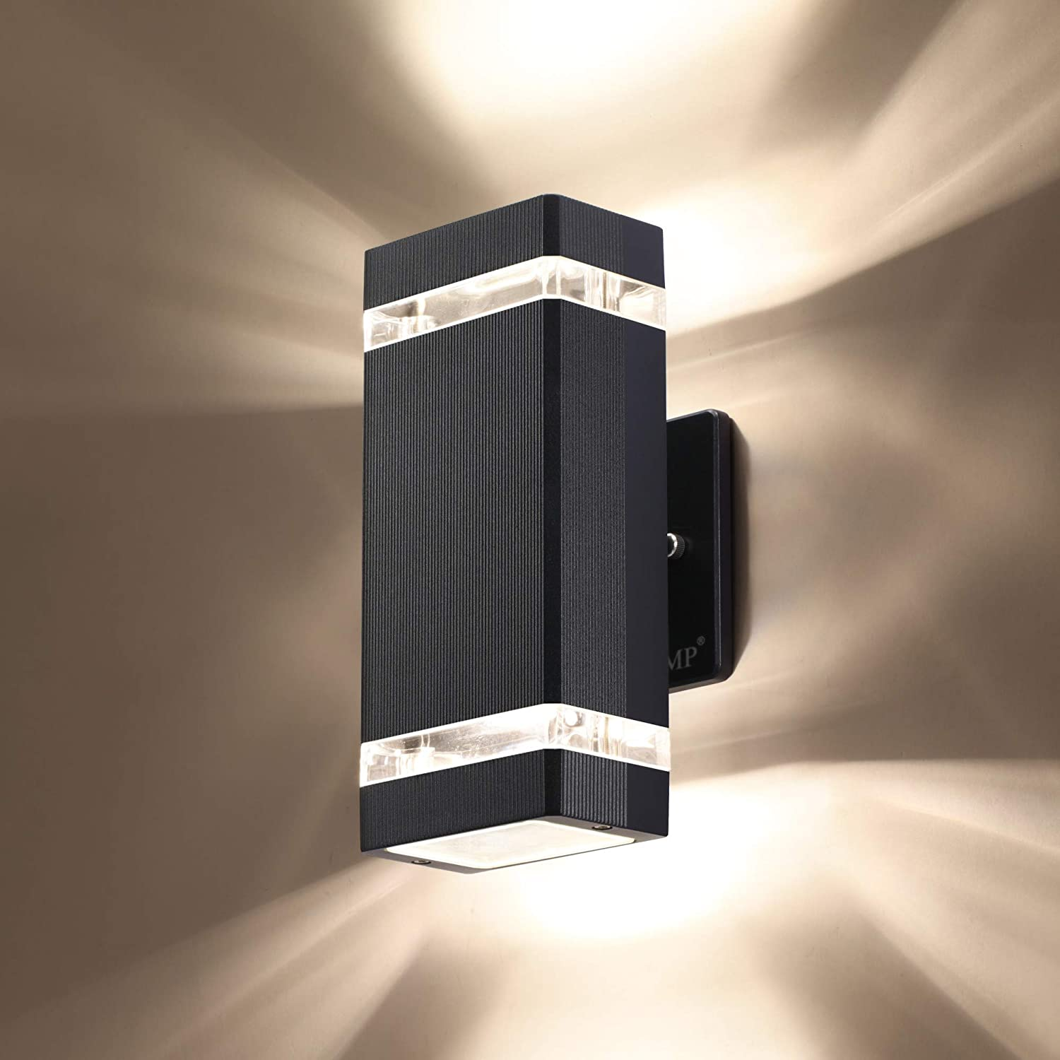 Amazon Com Lmp Led Square Up And Down Lights Outdoor Wall Light Body In Aluminum Waterproof Outdoor Wall Lamps 3000k 5w With Certificate Etl 1 Pack Home Kitchen
