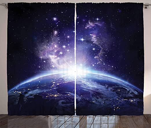 """42/"""" x 24/"""" LARGE WALL POSTER PRINT NEW Sunrise over Earth from Outer Space"""