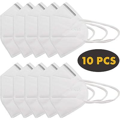 Protector facial con gancho flexible para la oreja y clip de nariz de metal (10 piezas)