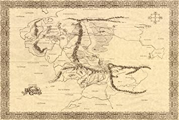 map of middle earth the lord of the rings nice silk