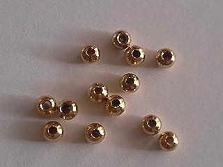 Fliegenbinden Kopfperlen goldfarben 4,0mm, 50Stück