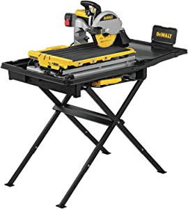 DEWALT Wet Tile Saw with Stand, High Capacity, 10-Inch (D36000S)