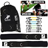 Kbands | Speed and Strength Leg Resistance Bands | Includes Speed 101 and Agility FX Digital Training Programs - Sizes for Youth, Intermediate, and Advanced Athletes