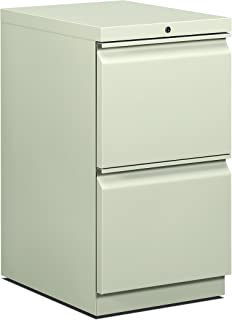product image for HON 33823RS 22-7/8-Inch Efficiencies Mobile Pedestal File with 2 File Drawers, Light Gray