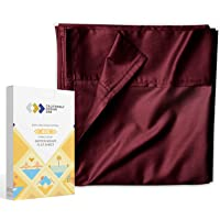 400-Thread-Count Flat Sheet Queen Size - 1 Piece Burgundy Red Wine Top Sheet Sold Separately, Pure Long Staple Cotton…