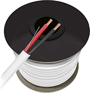 12 AWG CL2 OFC in Wall Speaker Wire, GearIT Pro Series 12 AWG Gauge (100 Feet / 30.48 Meters/White) OFC Oxygen Free Copper UL CL2 Rated in-Wall Speaker Wire Cable for Home Theater and Car Audio