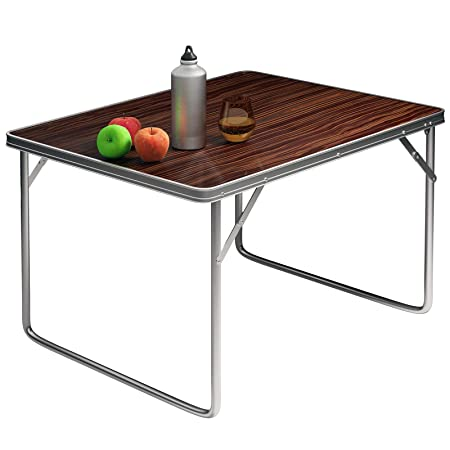 Mesa de camping plegable, hecha con tablero DM y aluminio: Amazon ...
