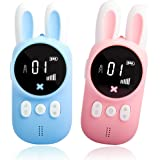 Bright Platinum Walkie Talkies for Kids, Small Portable Two-Way Radio for Family to Camping, LCD Flashlight, Gifts Toys…