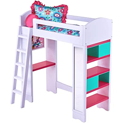 My Life As 6-Piece Light & Sound Loft Bed Play Set with Reversible Bedding: Toys & Games