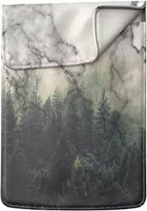 Lex Altern Laptop Sleeve Case for MacBook Air 13 Mac Pro 16 15 Retina HP Dell ASUS Acer Lenovo 11 12 14 17 inch 2020 Marble Pattern Green Forest Abstract Tree Natural Cover Protective Print Slim Men