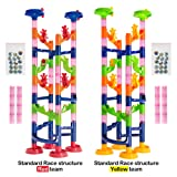 Marble Run Challenge 158 piece set. 36 small pieces already assembled. Race to the Bottom. Marbles Will Not Get Stuck.