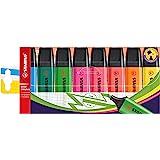 Stabilo Boss – Marcador original, 2 mm + 5 mm – Conjunto de carteira de 8 cores, 9 Fluorescent and 10 Pastel Colors, Pack Of