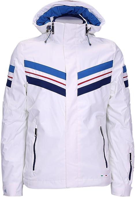 Amazon Giacca Fila bianco it Bianco S 681638 da da sci uomo qf6z5f4w