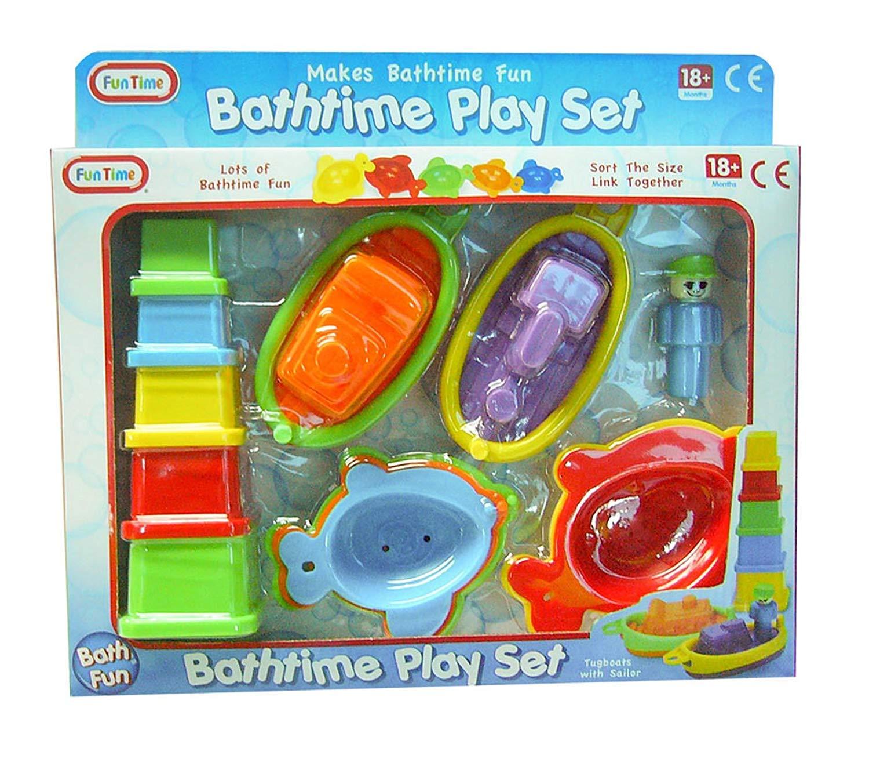 Multi-Colour Fun Time Bath Time Play Set