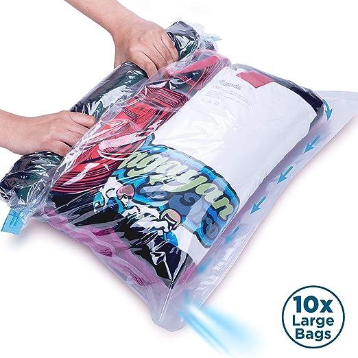 Strong Vacuum Storage Bags Space Saving Compressed Bag Vaccum Pack Saver w// Pump