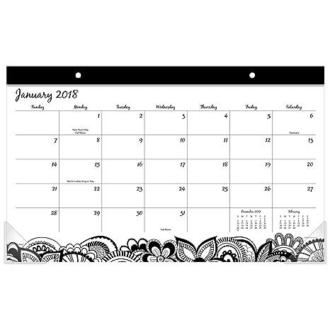 Amazon.com: Mead monthly Desk Pad Calendar, enero de 2018 ...