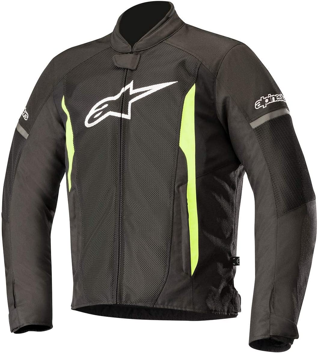 Alpinestars Men's T-Faster Air Motorcycle Jacket, Black/Yellow, Medium