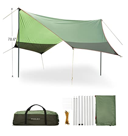 FiveJoy Portable Canopy Tent Rainfly Sun Shelters - Shade for Sun and UV Protection -Ripstop  sc 1 st  Amazon.com & Amazon.com: FiveJoy Portable Canopy Tent Rainfly Sun Shelters ...