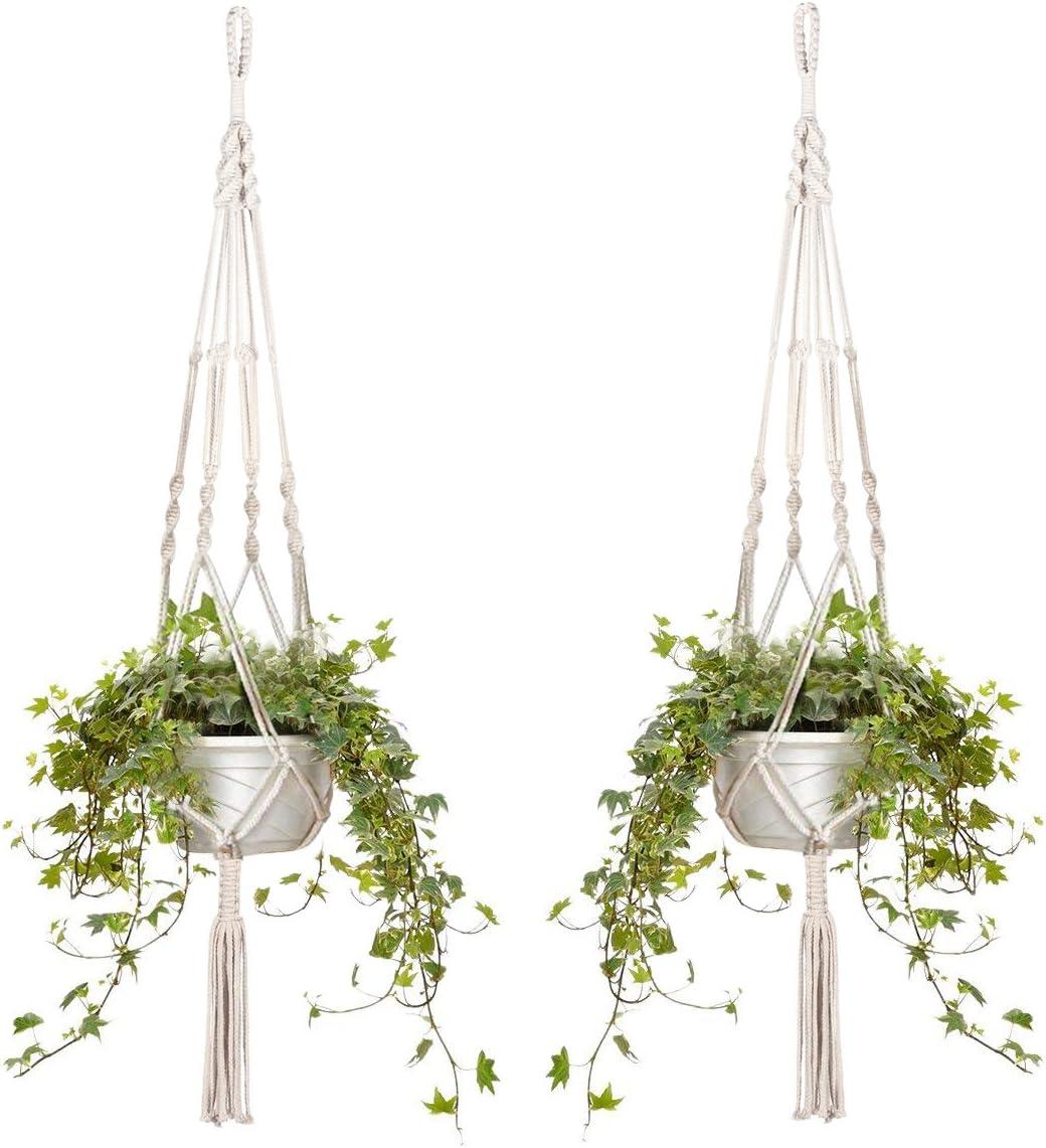 6X Garden Plant Hanger Macrame Hanging Planter Basket Flower Pot Holder Decor