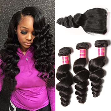 Amazon.com : Nadula Brazilian 8a Unprocessed Loose Wave Remy Virgin ...