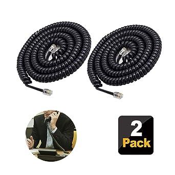 Amazon Com 2 Pack Telephone Cord Phone Cord 11 5 Ft