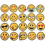 (20unidades) varios colores Emoji cara expresión parches hierro en parches bordados Applique DIY, diseño de adornos