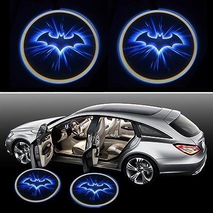 Bestmay Blue Bat Batman Logo 2PCS inalámbrico coche LED puerta ...