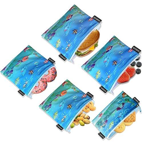 Bolsas reutilizables para bocadillos de sándwiches ...