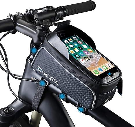GADISTA® Francia, Bolsa Bicicleta Manillar Pantalla Táctil (6.5 Pulgadas) Bolsa para Cuadro Bicicleta con o sin Touch ID. Soporte Movil Bici Impermeable Y Soporte GPS Bicicleta: Amazon.es: Deportes y aire libre