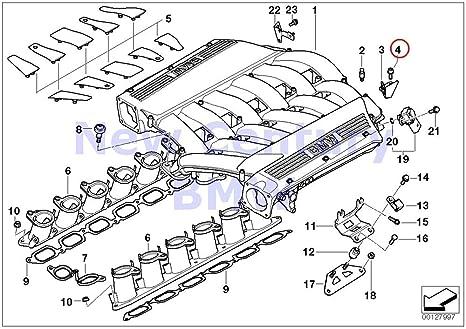 4 x bmw genuine engine acoustics intake manifold system torx-bolt with  washer x5 4 4