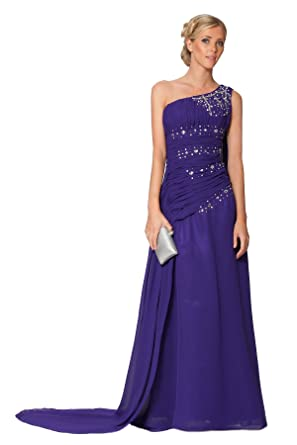SEXYHER Glamorous Cadbury Purple Beaded Evening Prom Dress With ruched (uk8)