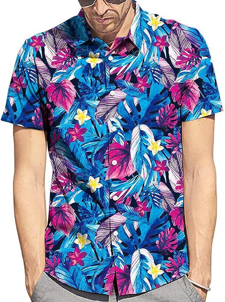 Cocoty-store 2019 Camiseta Hombre, Hombres Mujeres Camisetas Casuales de impresión de Tallas Grandes Verano Camisas Hombre Manga Corta de la Playa Hawaiana, XS, Azul: Amazon.es: Ropa y accesorios