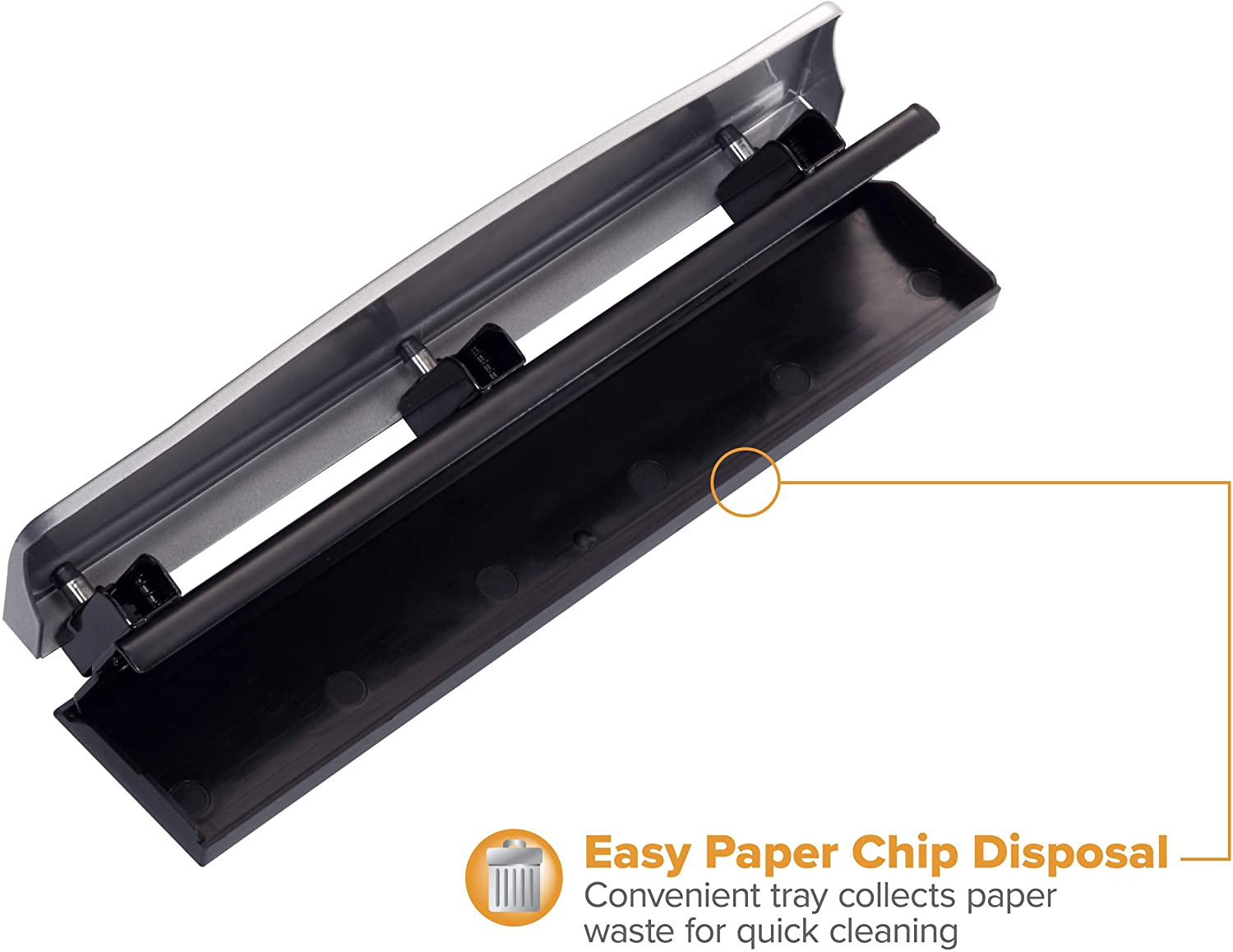 Bostitch Office HP12 3 Hole Punch 12 Sheet Capacity 3 Pack Metal,Silver