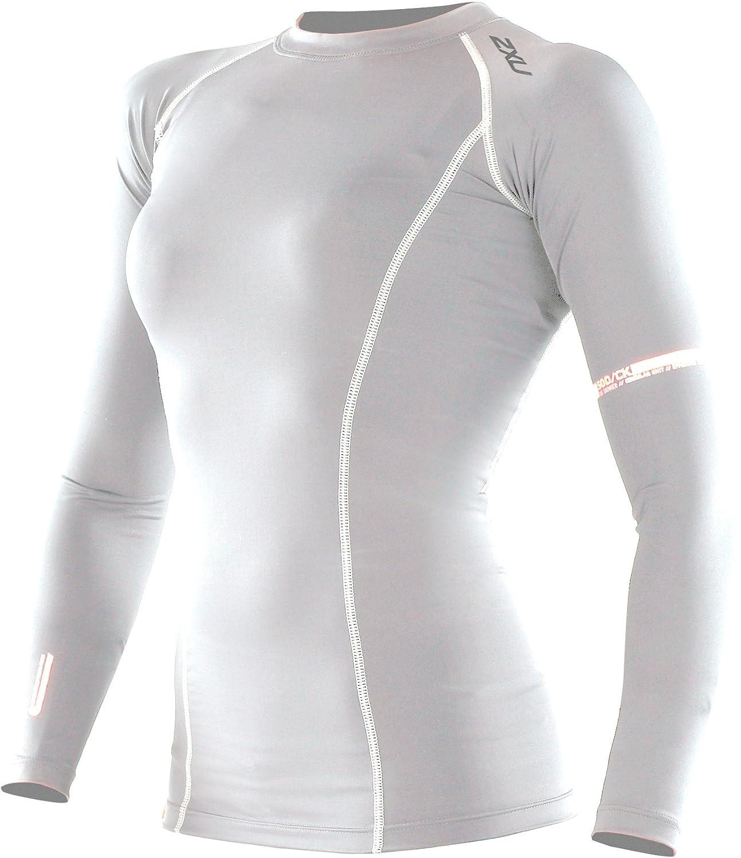 2XU High Performance Compression Long Sleeve Top Damens weiß