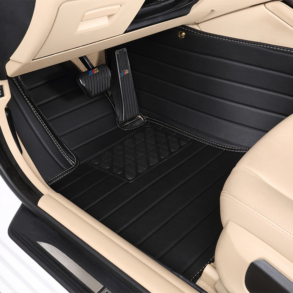 Focus RS, Black Car Charm Custom Heavy Duty High-Grade Waterproof Leather Car Carpet Double Floor Floor Mats/for Ford Focus ST RS Fusion Taurus Ecosport Escape Edge Explorer F-150