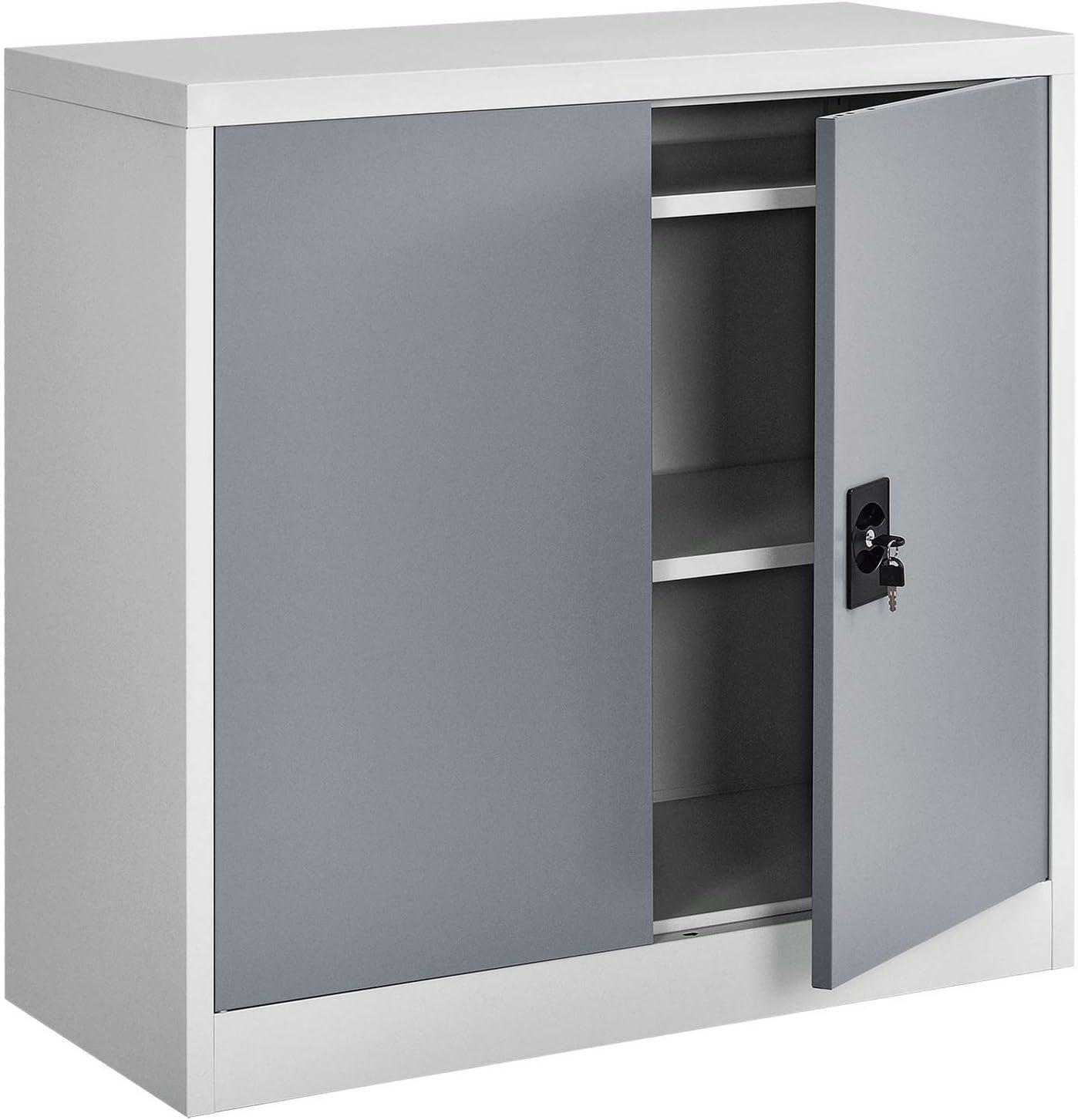 Juskys Metall Aktenschrank Office Mit 2 Turen 2 Einlegeboden