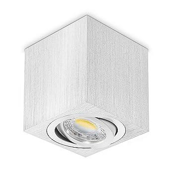 LED empotrables (Incluye Bombilla Led GU10 I 230 V orientable I lámpara de techo de