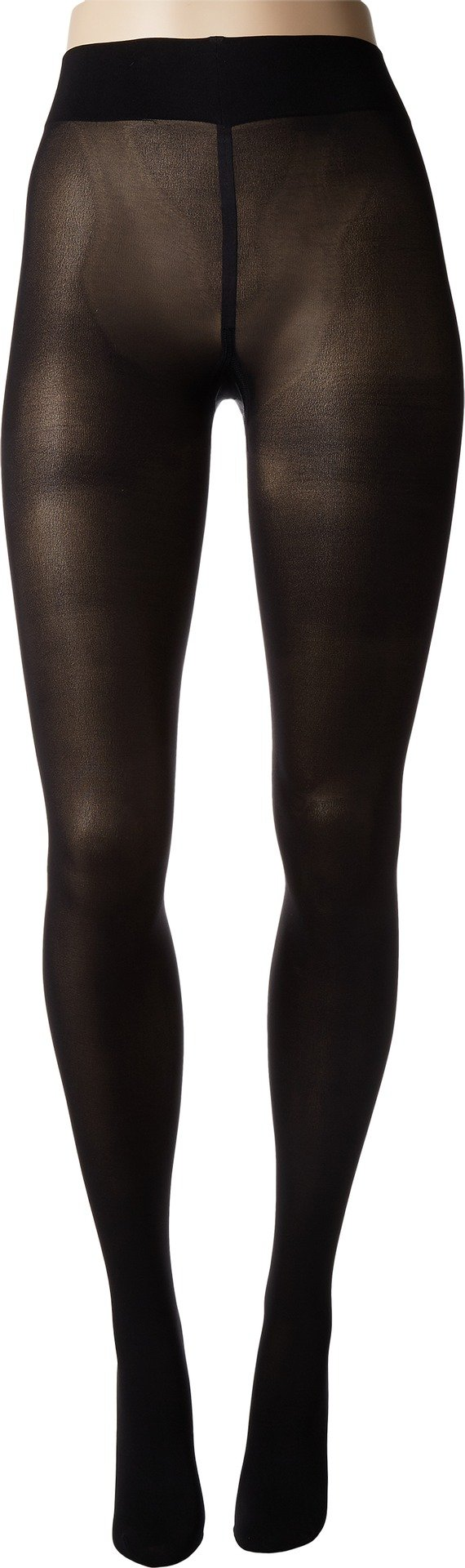 Wolford Women's Pearl Back Seam Tights Black/Pearl Large by Wolford (Image #1)