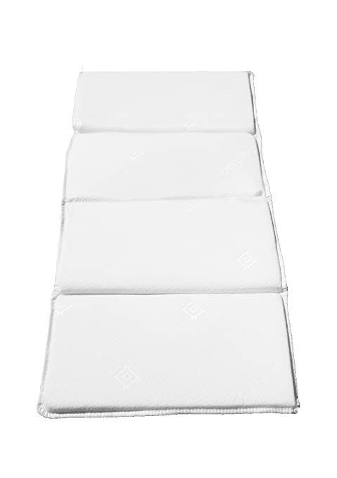 the best attitude 49fe9 d39cf LAURA COOLMAX® Quad Fold 119x59cm Compact Baby Travel Cot Mattress In Its  Own Travel Bag : British Made With Luxurious Super Soft Fully Over locked  ...