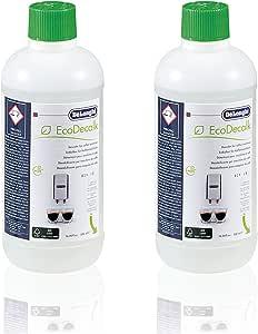 2 x Genuine DeLonghi Descaler Cleaner Espresso Coffee Machine - 500ml - EcoDecalk DLSC 500