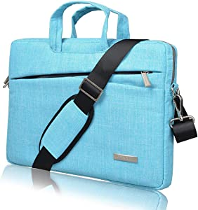 BingGoGo Laptop Bag 14 Inch Briefcase Shoulder Bags,Water Repellent Laptop Bag Briefcases Bussiness Carrying,Compatible Ultrabook MacBook 14-14.6 Inch Laptop Sleeves (14 Inch, Blue)