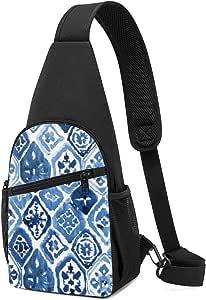 PGTry Arabesque Tile Art Sling Bolsa de hombro ligera mochila para el pecho, bolsa cruzada, bolsas de viaje, senderismo, para hombres y mujeres