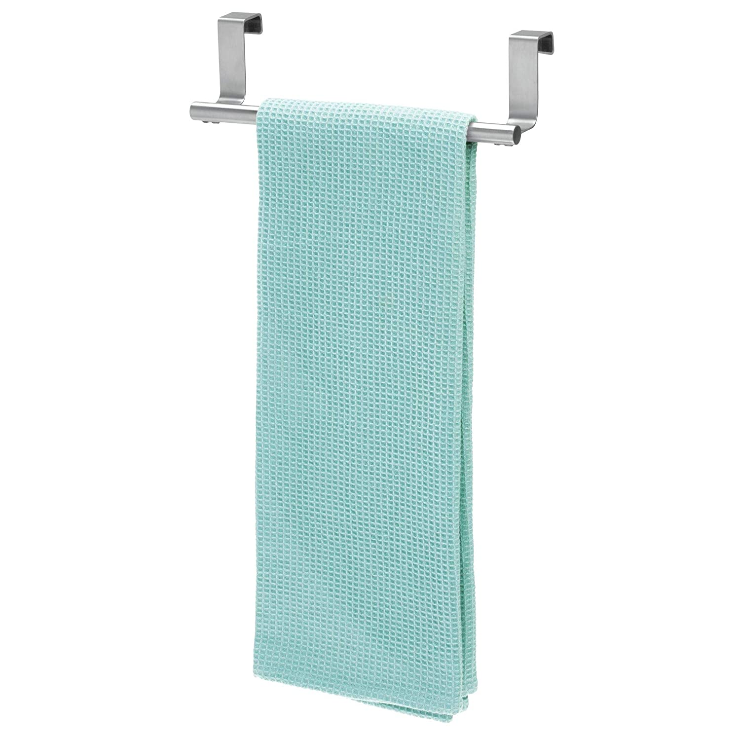 iDesign Forma Metal Over the Cabinet Towel Bar, Hand Towel and Washcloth  Rack for Bathroom and Kitchen , 9.25\