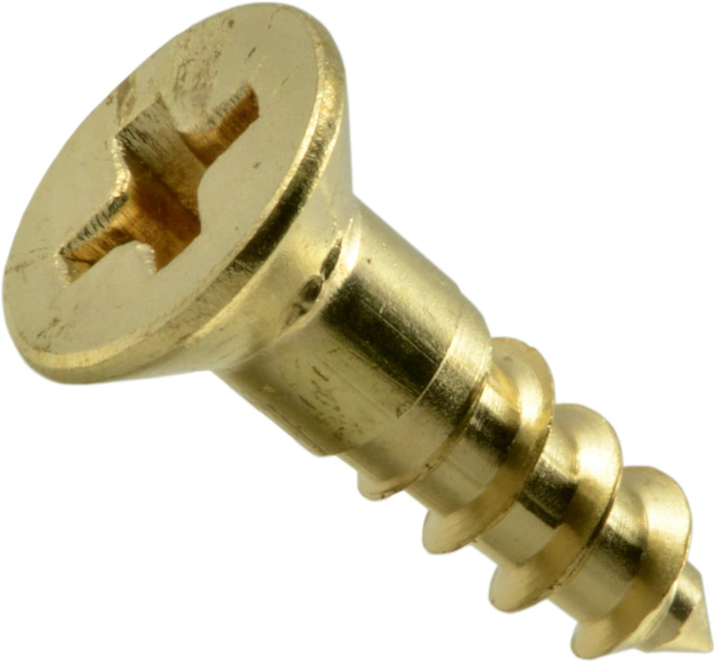 2 x 3//8 Hard-to-Find Fastener 014973125608 Phillips Flat Wood Screws Piece-100