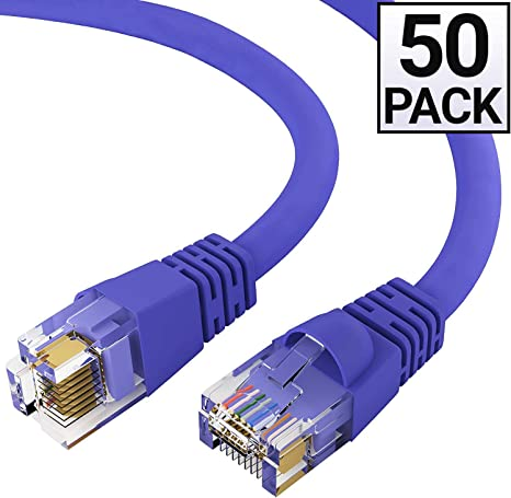 Gray 1FT Cat6 Ethernet Network Cable LAN Internet Patch Cord RJ45 Gigabit Ultra Spec Cables Pack of 6