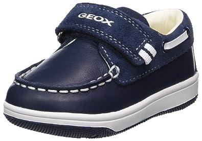 Geox B Shaax A, Mocassins Bébé Garçon, Bleu (Navy), 20 EU