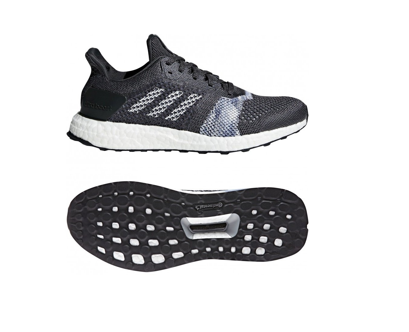adidas Originals Women's Ultraboost St B079TDKJSB 6.5 B(M) US Carbon/White/Chalk Blue