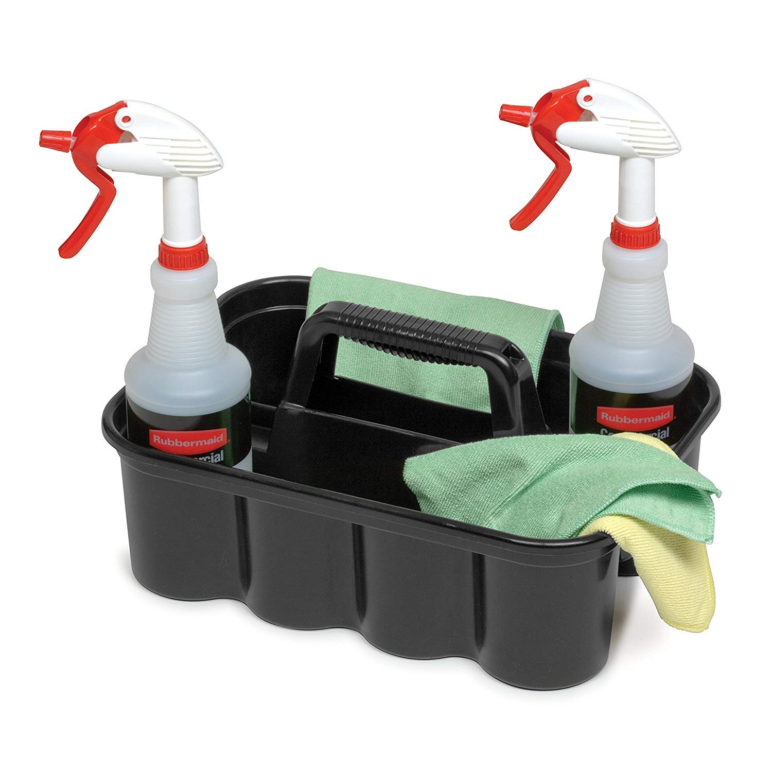 Deluxe Carry Cleaning Caddy, Black (FG315488BLA) by RubbermaidComercialProducts (Image #5)