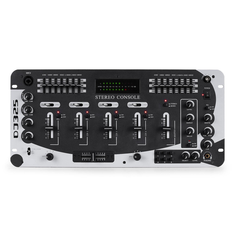 Resident DJ de 4 canales estéreo mesa de mezclas/licuadora + Nivel ...