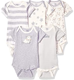 da38adcdf Amazon.com: Gerber Baby 5-Pack Solid Onesies Bodysuits: Clothing
